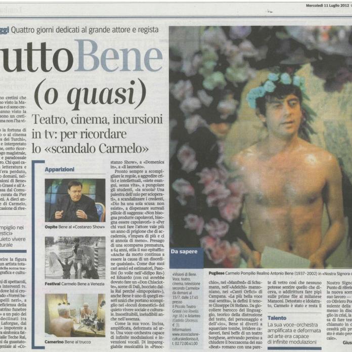 2012 07 11 - Corriere della Sera - Tutto Bene